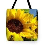 Yellow Sunflowers Art Prints Summer Sunflower Tote Bag