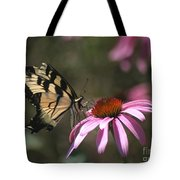 Yellow Swallowtail And Purple Coneflower Tote Bag