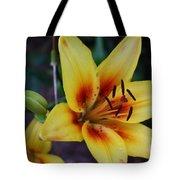 Yellow Tiger Lily Tote Bag