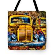 Yellow Trucks Tote Bag