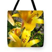 Yellow Trumpets Tote Bag