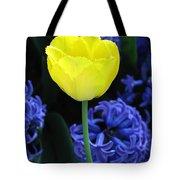 Yellow Tulip And Hyacinth Tote Bag