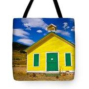 Yellow Western School House Tote Bag