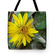 Yellow Wildflower Tote Bag