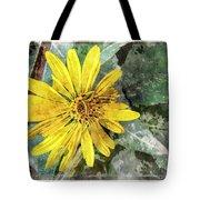 Yellow Wildflower Photoart Tote Bag
