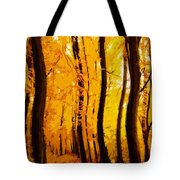 Yellow Wood Tote Bag