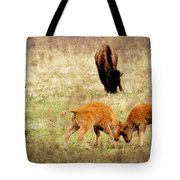 Yellowstone Bison Tote Bag by Ellen Heaverlo