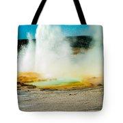 Yellowstone Geysers Tote Bag