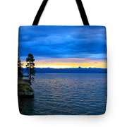 Yellowstone Lake Sunrise Tote Bag