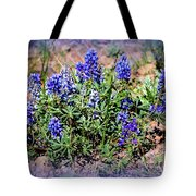 Yellowstone Lupine Blue Tote Bag