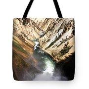Yellowstone River Below Lower Falls Tote Bag