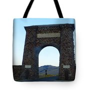 Yellowstone Roosevelt Arch Tote Bag