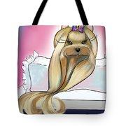 Yorkie Rapunzel Tote Bag