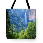 Yosemite Falls And Merced River Tote Bag