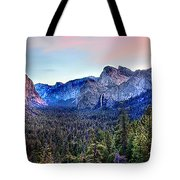 Yosemite Valley From Tunnel Tote Bag