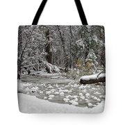 Yosemite Winter Tote Bag by Heidi Smith
