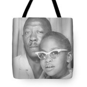 Young Angela With Her Dad Tote Bag