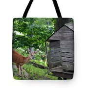 Young Buck At Treehouse Hopatcong Tote Bag