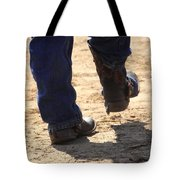 Young Cowboy With Spurs Tote Bag