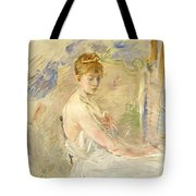 Young Girl Getting Up Tote Bag