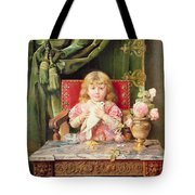 Young Girl With A Dove   Tote Bag