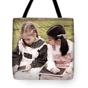 Young Girls Doodling Tote Bag