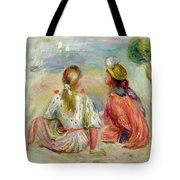 Young Girls On The Beach Tote Bag