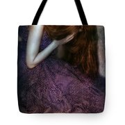 Young Lady Crying Tote Bag