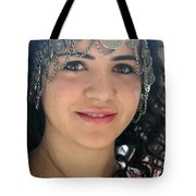 Young Palestinian In Traditional Dress In Bethlehem Tote Bag