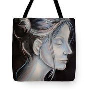 Young Woman In Profile-quick Self Study Tote Bag