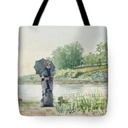 Young Woman Tote Bag by Winslow Homer