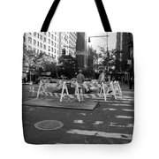 Your Tax Dollars At Work In Black And White Tote Bag