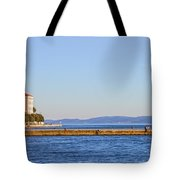 Zadar Pier On The Adriatic Sea Tote Bag