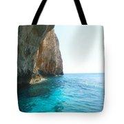 Zakynthos Blue Caves Tote Bag