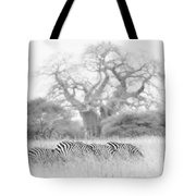 Zebra And Tree Tote Bag