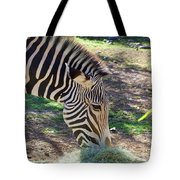 Zebra At Lunch Tote Bag