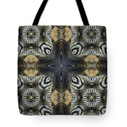 Zebra Cross II Tote Bag