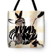 Zebra In Flight Tote Bag