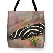 Zebra Longwing Butterfly-3 Tote Bag