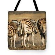 Zebras Three Tote Bag