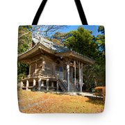 Zen Building In A Garden At A Sunny Morning Tote Bag