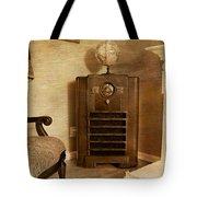 Zenith Consol Radio 1940's  Tote Bag