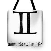 Zodiac: Gemini Tote Bag