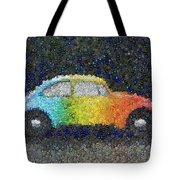 Zodiac Vw Bug Mosaic Tote Bag
