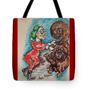 A Elf And Her Dog Tote Bag