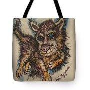 Blue Eyed Husky Tote Bag