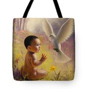 Peace   Weaver Tote Bag