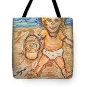 Playing In The Sand Tote Bag
