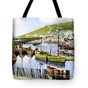 1900 Harbour View Mousehole Cornwall England Tote Bag