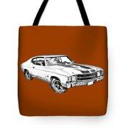 1971 Chevrolet Chevelle Ss Illustration Tote Bag